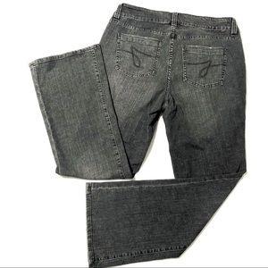 JAG Curvy Fit Bootcut Distressed Black Jeans